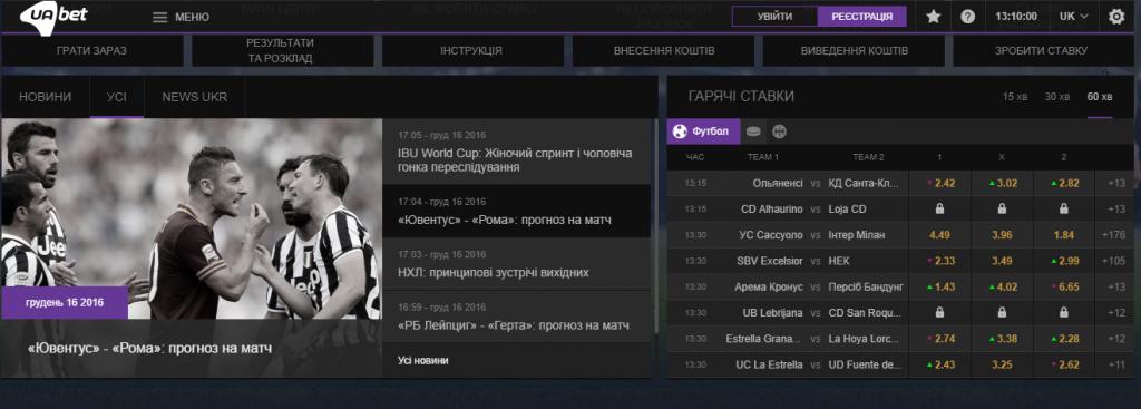 Обзор сайта  БК  Uabet